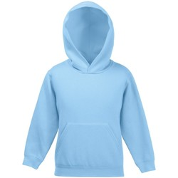 textil Barn Sweatshirts Fruit Of The Loom 62043 Himmelblått