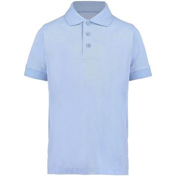 textil Pojkar Kortärmade pikétröjor Kustom Kit KK406 Ljusblå