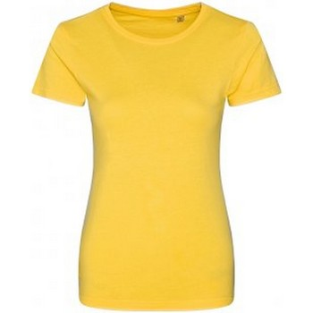 textil Dam T-shirts Ecologie EA01F Solgult