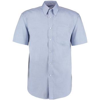 textil Herr Kortärmade skjortor Kustom Kit KK109 Ljusblå