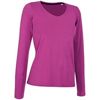 textil Dam Långärmade T-shirts Stedman Stars  Cupcake rosa