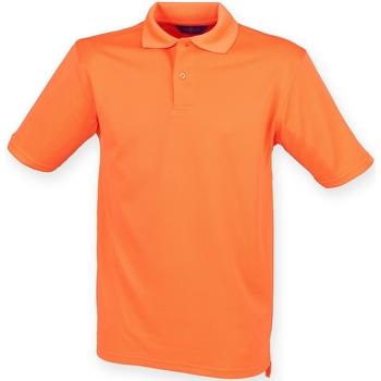 textil Herr Kortärmade pikétröjor Henbury HB475 Bränd orange