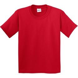 textil Barn T-shirts Gildan 64000B Röd