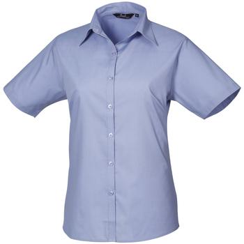 textil Dam Skjortor / Blusar Premier PR302 Mellanblått