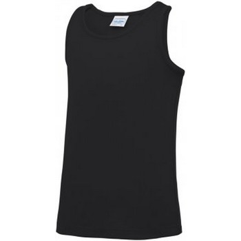 textil Barn Linnen / Ärmlösa T-shirts Awdis JC007B Jet Black