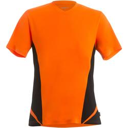 textil Herr T-shirts Gamegear KK969 Fluorescerande orange/svart