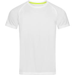 textil Herr T-shirts Stedman  Vit