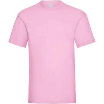 textil Herr T-shirts Universal Textiles 61036 Pastellrosa
