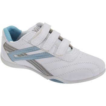 Skor Dam Sneakers Dek Raven Vit/ljusblå