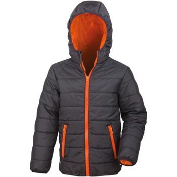 textil Barn Täckjackor Result R233JY Svart/orange