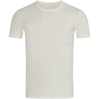 textil Herr T-shirts Stedman Stars Morgan Gräddvit