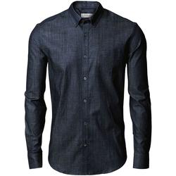 textil Herr Långärmade skjortor Nimbus Torrance Indigoblå