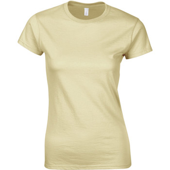 textil Dam T-shirts Gildan Soft Sand