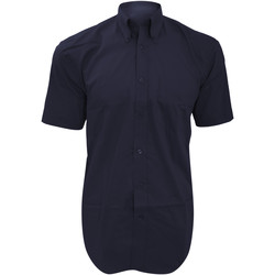 textil Herr Kortärmade skjortor Kustom Kit KK109 Marinblått
