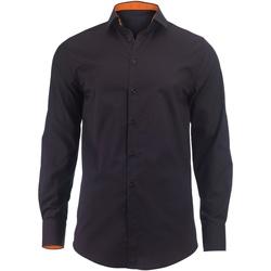 textil Herr Långärmade skjortor Alexandra Hospitality Svart/orange