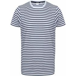 textil T-shirts Skinni Fit SF202 Vit/Oxford Navy