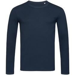 textil Herr Långärmade T-shirts Stedman Stars  Marina Blue