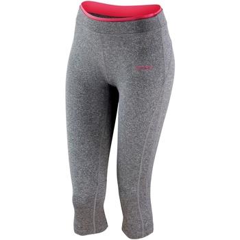 textil Dam Leggings Spiro Capri Sport Grey Marl / Hot Coral