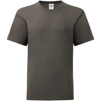 textil Barn T-shirts Fruit Of The Loom 61023 Ljus grafitgrå