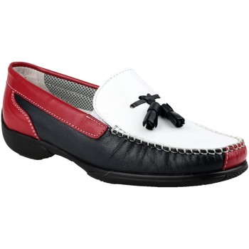 Skor Dam Loafers Cotswold BIDDLESTONE Vitt/marint/rött