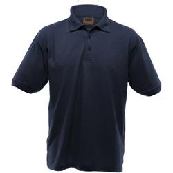 textil Herr Kortärmade pikétröjor Ultimate Clothing Collection UCC004 Marinblått