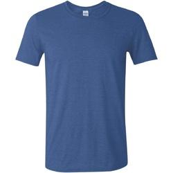 textil Herr T-shirts Gildan Soft-Style Heather Royal