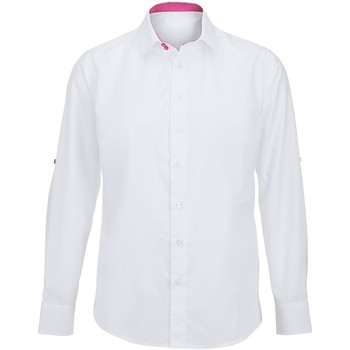 textil Herr Långärmade skjortor Alexandra Hospitality Vit/rosa