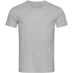textil Herr T-shirts Stedman Stars Stars Grått
