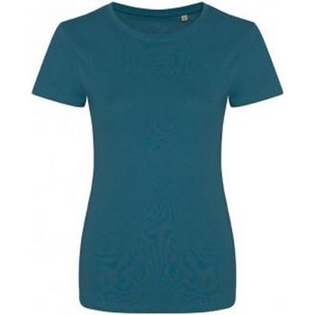 textil Dam T-shirts Ecologie EA01F Bläckblått