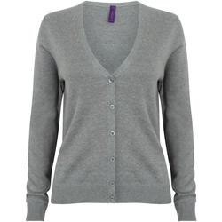 textil Dam Koftor / Cardigans / Västar Henbury HB726 Slate Grey Marl