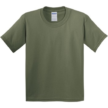 textil Barn T-shirts Gildan 5000B Militärt grönt