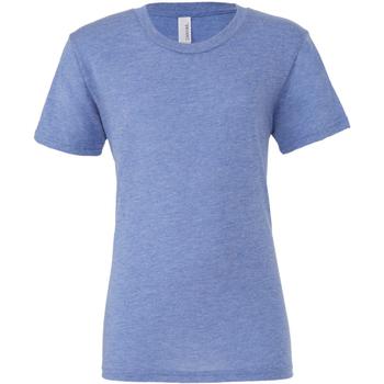 textil Herr T-shirts Bella + Canvas CA3413 Blå triblend