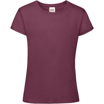 textil Flickor T-shirts Fruit Of The Loom 61017 Bourgogne