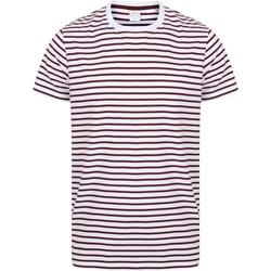 textil T-shirts Skinni Fit SF202 Vit/Burgundy