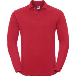 textil Herr Långärmade pikétröjor  Russell 569M Klassiskt röd