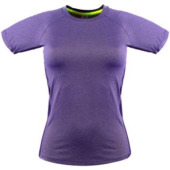 textil Dam T-shirts Tombo Teamsport Slim Fit Lila marl / Lila