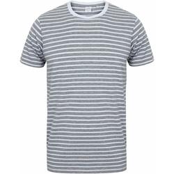 textil T-shirts Skinni Fit SF202 Grått/vit