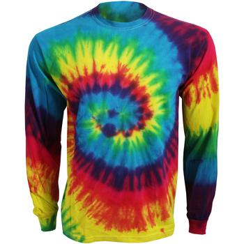 textil Långärmade T-shirts Colortone TD15M Regnbåge
