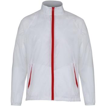 textil Herr Vår/höstjackor 2786  Vit/röd