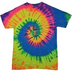 textil Dam T-shirts Colortone Rainbow Neon regnbåge