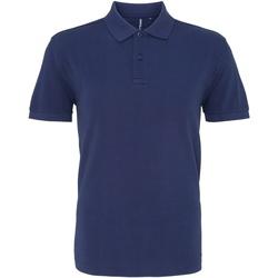 textil Herr Kortärmade pikétröjor Asquith & Fox AQ010 Denim