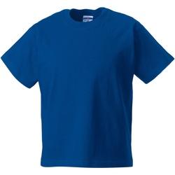 textil Barn T-shirts Jerzees Schoolgear ZT180B Ljusa kungliga
