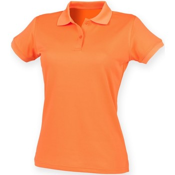 textil Dam Kortärmade pikétröjor Henbury Coolplus Bränd orange