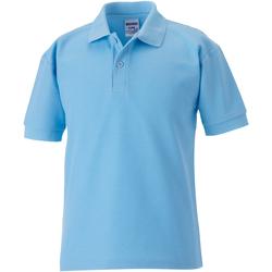 textil Pojkar Kortärmade pikétröjor Jerzees Schoolgear 539B Himmelblått