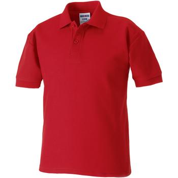 textil Pojkar Kortärmade pikétröjor Jerzees Schoolgear 539B Klassiskt röd