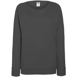 textil Dam Sweatshirts Fruit Of The Loom 62146 Ljus grafit