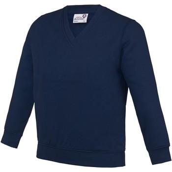 textil Barn Sweatshirts Awdis  Marinblått