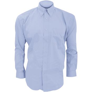 textil Herr Långärmade skjortor Kustom Kit KK105 Ljusblå