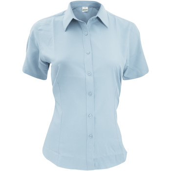 textil Herr Kortärmade skjortor Henbury HB596 Ljusblå