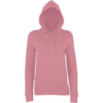 textil Dam Sweatshirts Awdis Girlie Dammig rosa